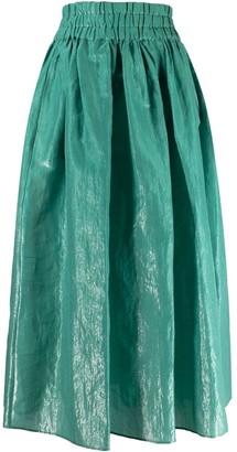 Aspesi Lame-Effect Full Skirt