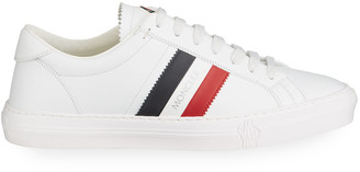 Moncler Men's Monaco Caged Logo Sneakers