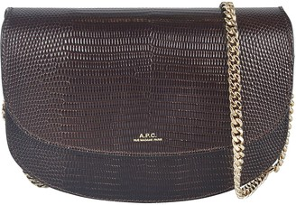 A.P.C. Chain Strap Animal Skinned Shoulder Bag
