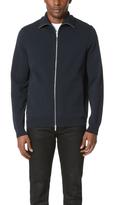 Theory Neofil Kampers Tech Cotton Zip Sweater