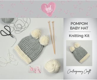 Wool Couture Pompom Baby Hat Knitting Kit