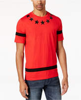 Sean John Men's Big & Tall Pieced-Stripe Star-Print T-Shirt