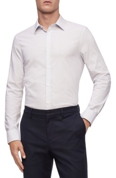 Calvin Klein Men's Textured Stretch Classic-Fit Shirt