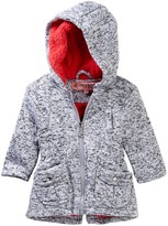 Urban Republic Melange Fleece Lined Hooded Jacket (Baby Girls)