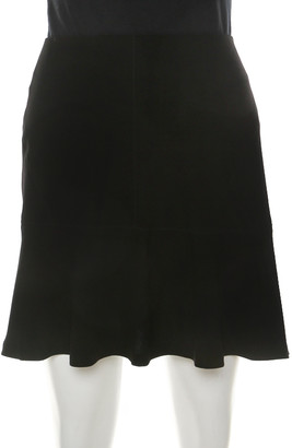 Joseph Black Stretch Crepe Albany Skirt M