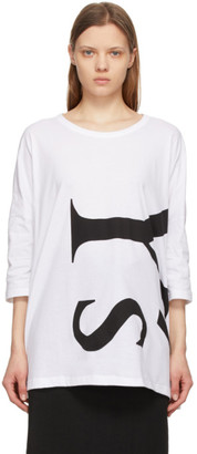 Y's Ys White Side Gusset T-Shirt