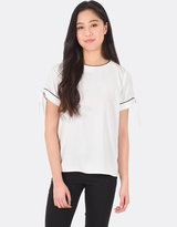 Forcast Bambi Short Sleeve Tie Top