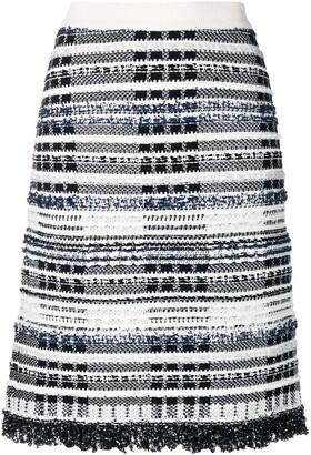 Thom Browne Navy Tweed Skirt
