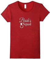 Women's Brides Squad Shirt Bachelorette Party Hens Night Bling XL