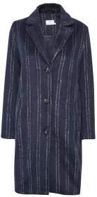 Kaffe Blue Stripe Coat - 14 - Blue
