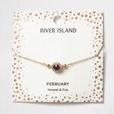 River Island Womens Purple gem February birthstone bracelet
