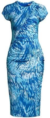 HUGO BOSS Etall Ruched Print Dress
