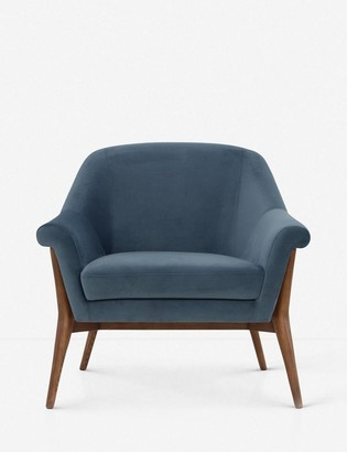 Lulu & Georgia Taitum Accent Chair, Blue