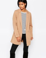 Brave Soul Longline Structured Coat