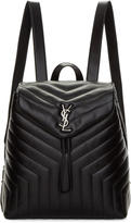 Saint Laurent Black Medium Matelassé Loulou Backpack