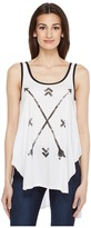 Roper 0860 Lite Weight Jersey Swing Tank Top Women's Sleeveless