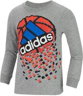 adidas Little Boys' Graphic-Print Long-Sleeve T-Shirt