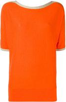MICHAEL Michael Kors metallic-trimmed sweater - women - Cotton - S