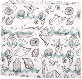Young & Free Unisex White Seashell Bliss Print Cotton Swaddle Blanket