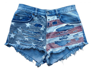 Denim & Supply Ralph Lauren Blue Denim - Jeans Shorts