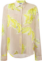 MSGM banana print sheer shirt - women - Polyester - 44