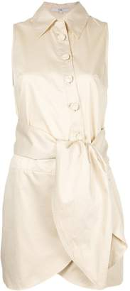 Tibi knot detail shirt dress