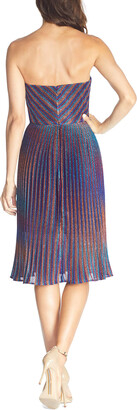 Dress the Population Rosalie Metallic Strapless Sweetheart Dress