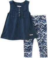 Calvin Klein 2-Pc. Tunic & Leggings Set, Toddler & Little Girls (2T-6X)