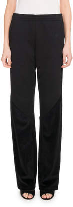 Givenchy Low-Rise Straight-Leg Quilted Cotton Track Pants
