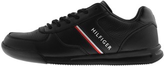 Tommy Hilfiger Lightweight Leather Trainers Black