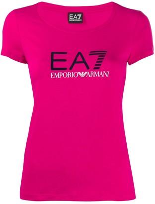 EA7 Emporio Armani fitted logo print T-shirt