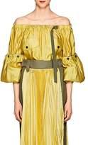 Sacai Women's Silk-Blend Off-The-Shoulder Blouse