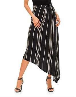 Co Striped Charmeuse Skirt