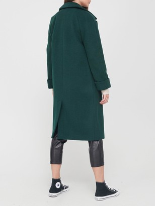 Dorothy Perkins Boyfriend Premium Wool Coat - Green