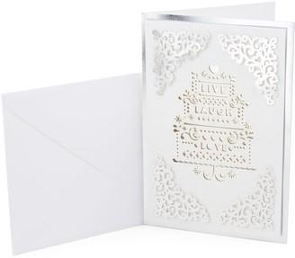 "Hallmark Signature Wedding ""Live Laugh Love"" Greeting Card"