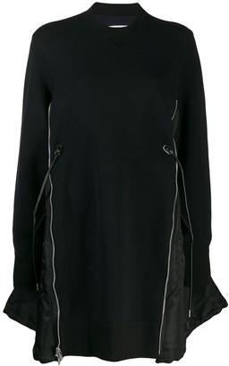Sacai Oversized Zipped Sweatshirt