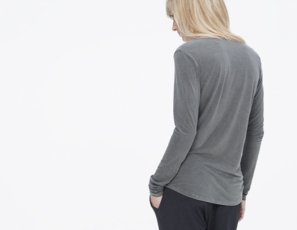 James Perse Spaced Jersey Henley