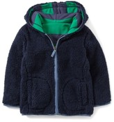Toddler Boy's Mini Boden Reversible Fleece Hoodie