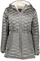 Steve Madden Titanium Faux Fur-Lined Hooded Long Puffer Coat