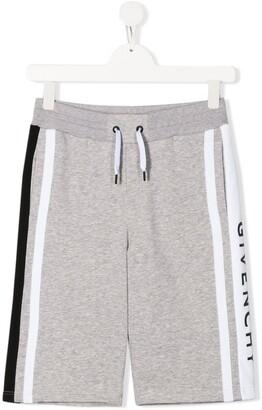 Givenchy Kids Logo Jersey Shorts