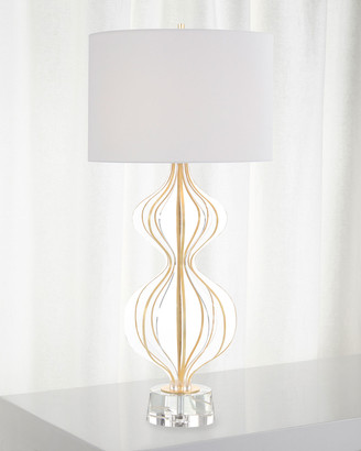 John-Richard Collection Acrylic Table Lamp with Gold Leaf