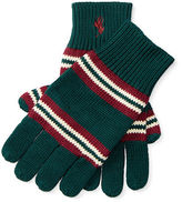 Ralph Lauren Striped Combed Cotton Gloves