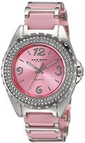 Akribos XXIV Women's AK514PK Ceramic Crystal Bracelet Watch