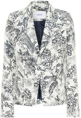 Erdem Iris printed cotton-blend blazer