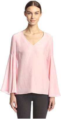 Jay Godfrey Women's Bishop Flare Sleeve Top