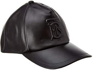 Burberry Monogram Motif Leather Baseball Cap