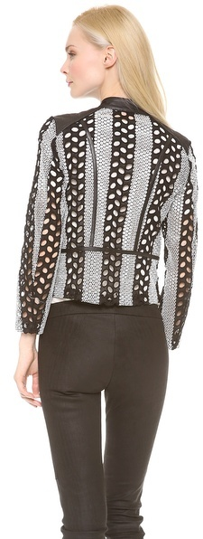 Yigal Azrouel Cotton Eyelet Jacket
