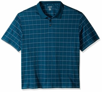 Van Heusen Men's Big & Tall Big and Tall Printed Windowpane Polo Shirt