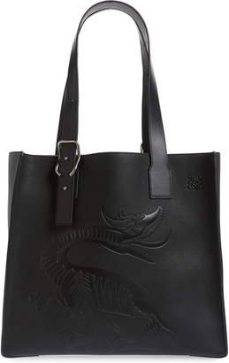 Loewe Dragon Leather Tote
