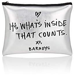 Barneys New York WOMEN'S COSMETIC BAG - SILVER